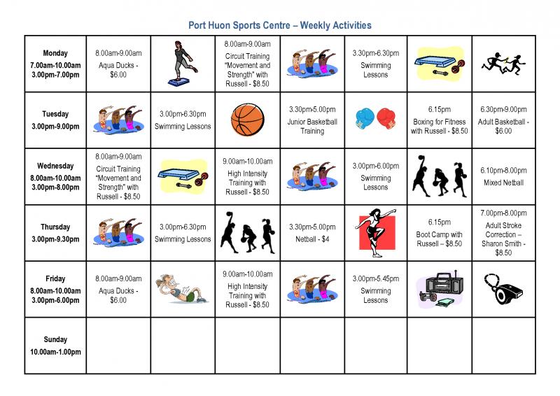 PHSC weekly_activities