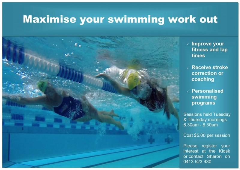 Sharon's swimming program