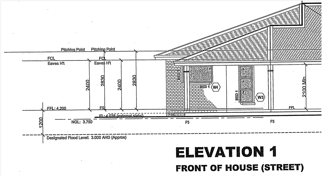 Floor Plan Elevation Definition : Developing in flood prone areas huon valley council
