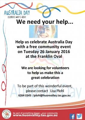 Australia Day Volunteers 2016