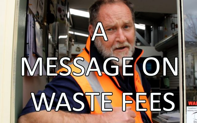 A Message on Waste Fees
