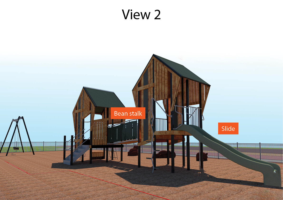 Artists impression: Huonville Foreshore Playground View 2