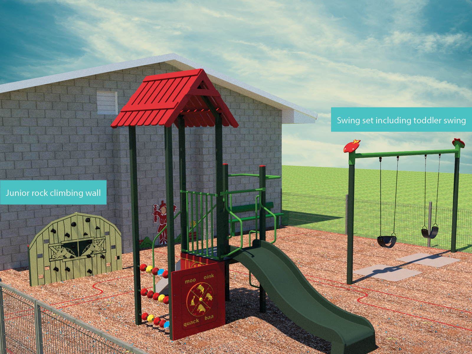 Artists impression of the playground